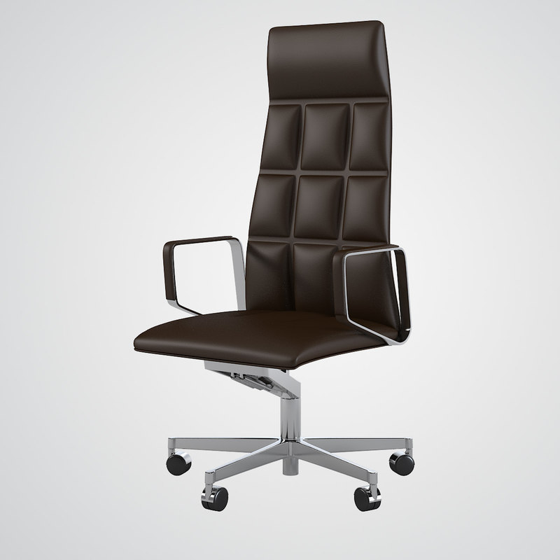 Modern tufted leather chair - 3d Walter Knoll Leadchair Model