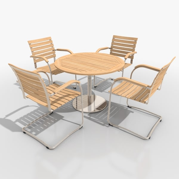 3d Model Cantilever Patio Furniture Set
