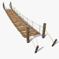 plank bridge 3D models