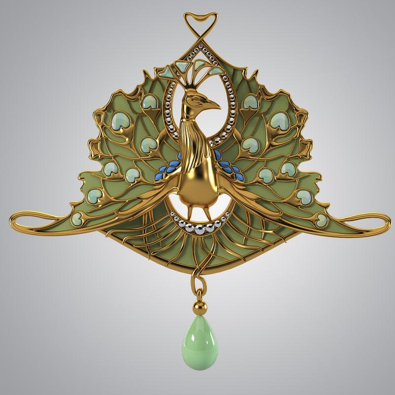 Ren Jules Lalique Peacock
