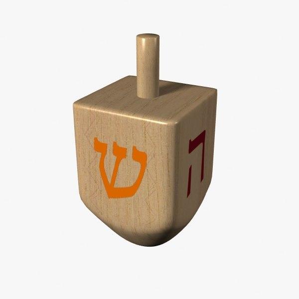 3d model hanukkah dreidel