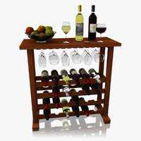 wine rack 3D models