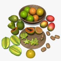 fruit basket 3D models