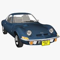Opel GT 3D models