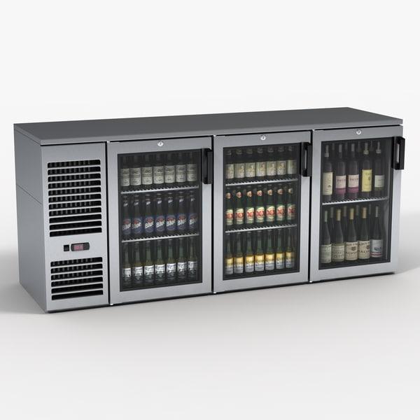 Under Bar Beer and Wine Cooler 3D Models