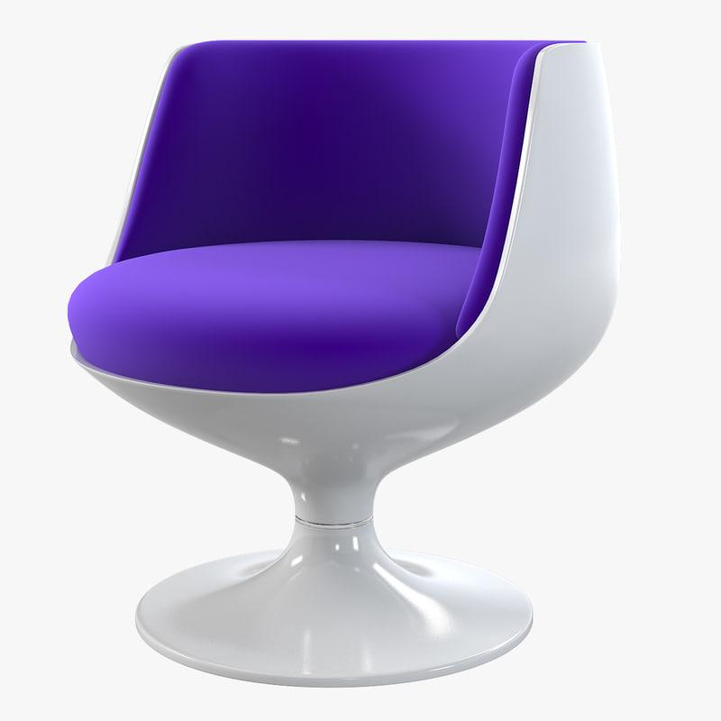 a Cognac Chair By Eero Aarnio accent designer bar chair cafe restaurant modern contemporary seating swivel cosmic hi-tech0001.jpg