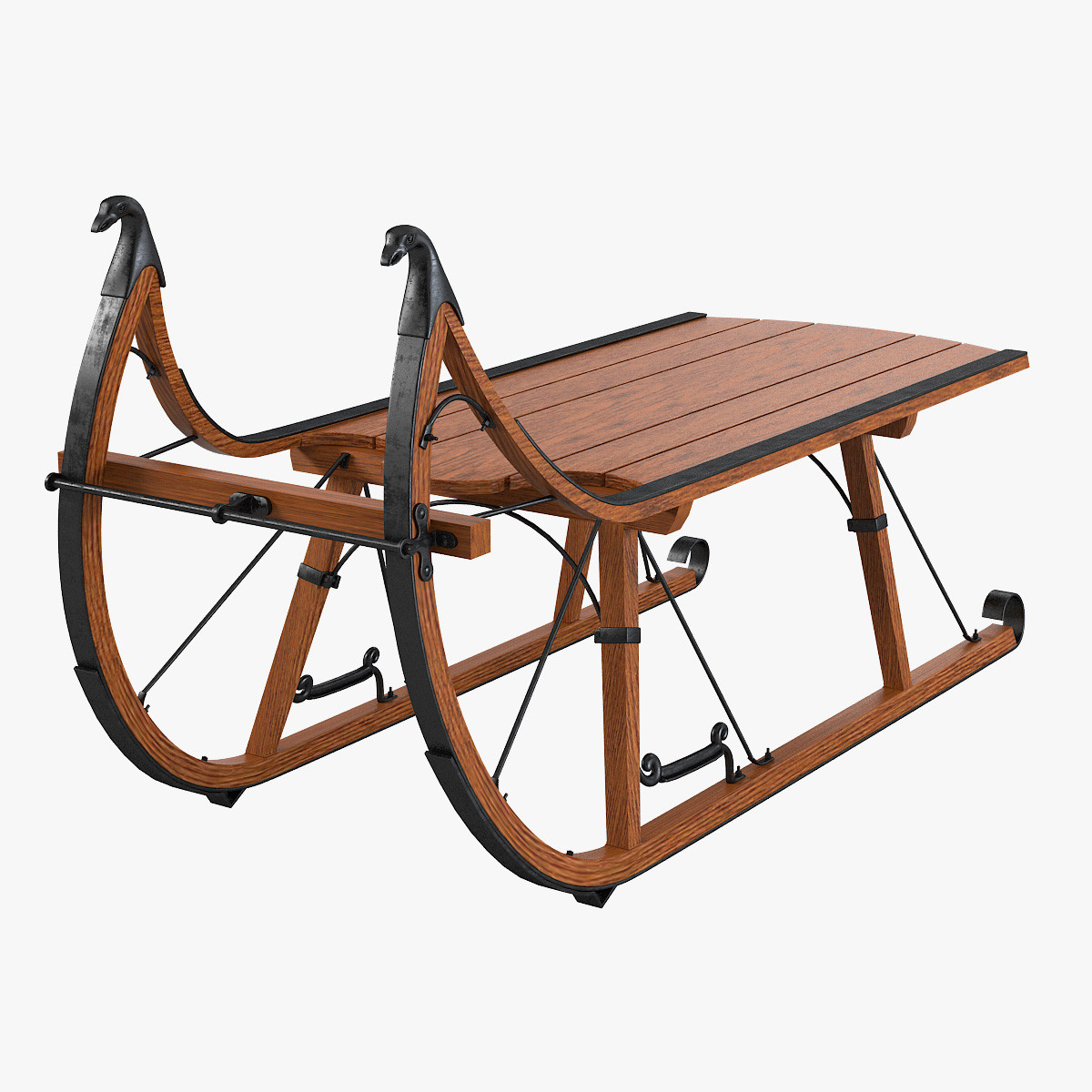 Eagle head albany cutter 3d model Antique sleigh coffee table