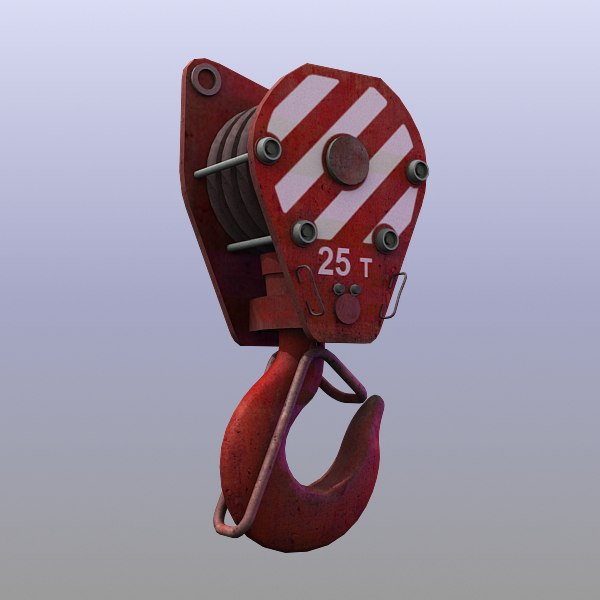 Red Crane Hook 3D Models