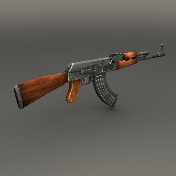 AK-47 3D Models