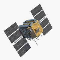 communication satellite 3D models