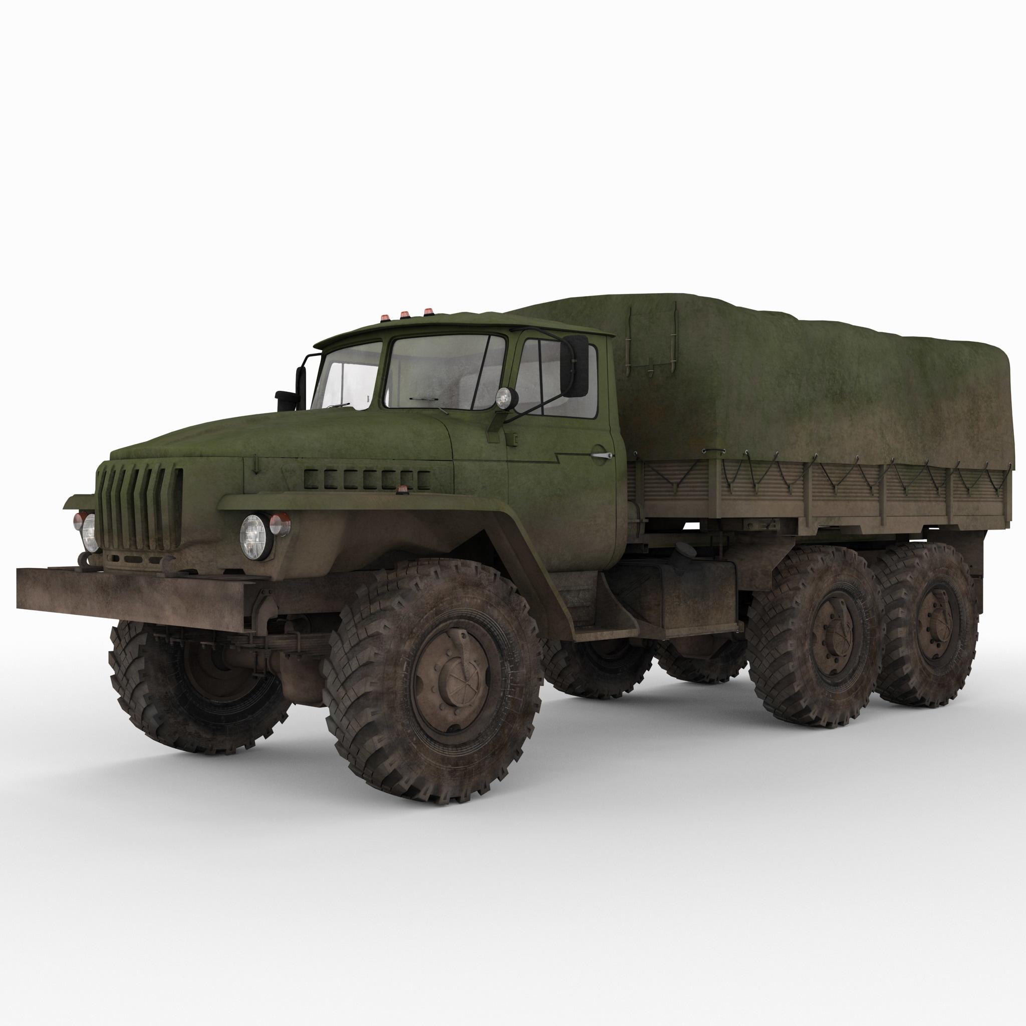 Russian Army 6x6 Truck Ural 4320