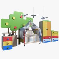 crib 3D models