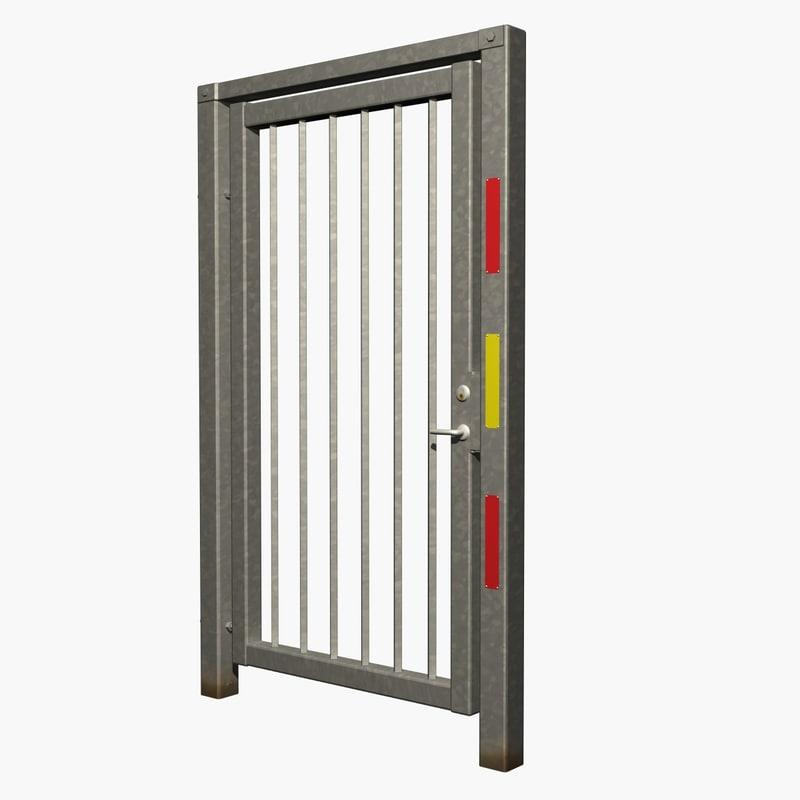 3dsmax galvanized metal gate