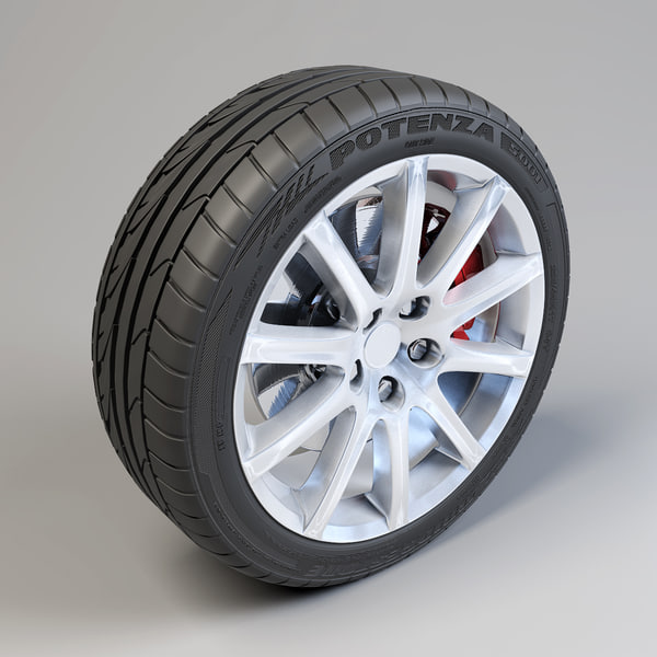 Bridgestone Potenza 10 Spoke Wheel 3D Models