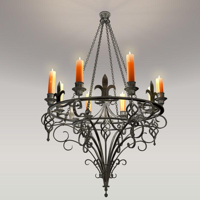 maya forged chandelier
