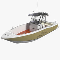 sport fishing boat 3D models