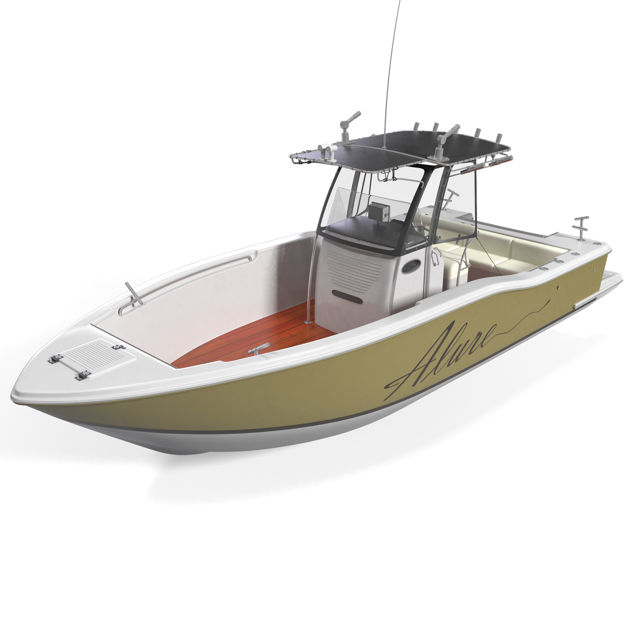 Animated Fishing Boat Fishing Boat 4 3d Model