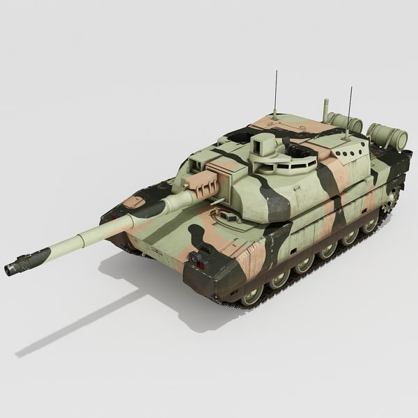 AMX-56 Leclerc France Main Battle Tank 2 3D Models