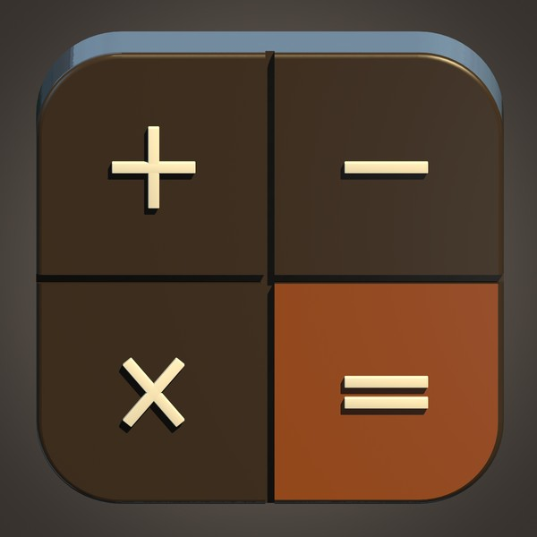 Mathematical Ios Icon 3D Models