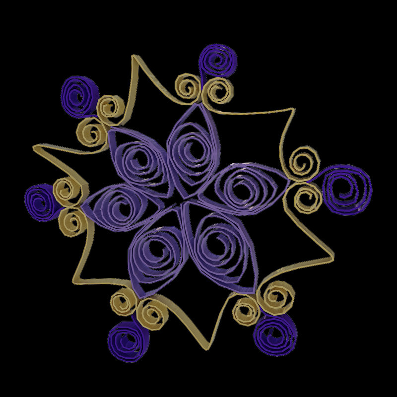 Quilling Snowflakes Grid 03