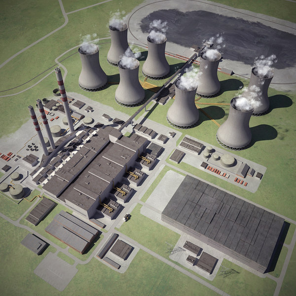 Coal-Fired Thermal Power Station 3D Models