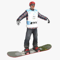 snowboarder 3D models