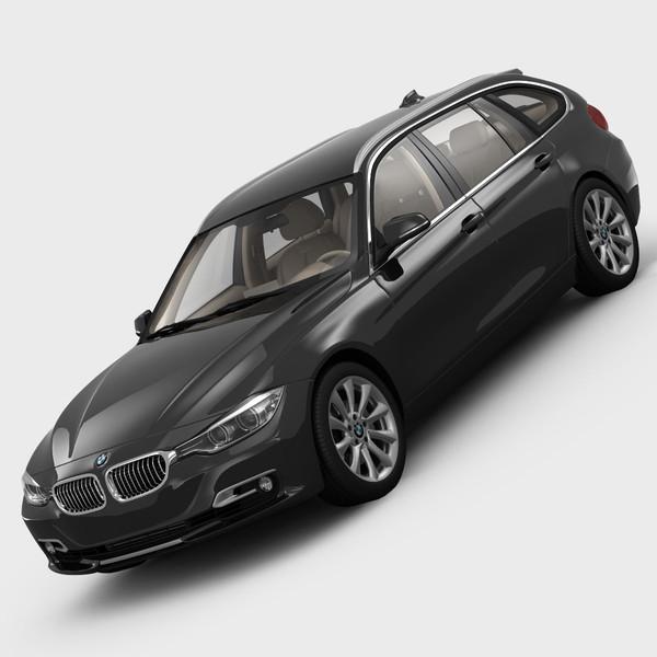 BMW 3 Series F31 Touring 2012 3D Models