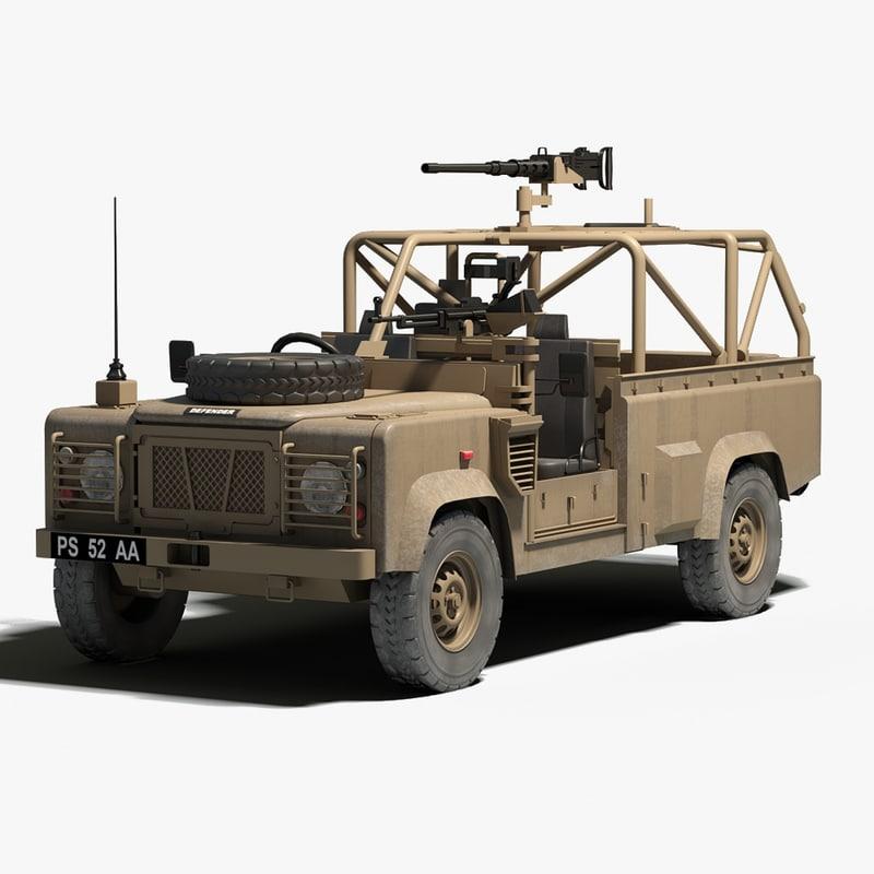 British Land Rover Defender 3d Model