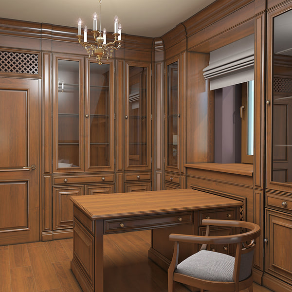 Library Cabinet Interior 3D Models