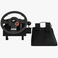 steering wheel controller 3D models