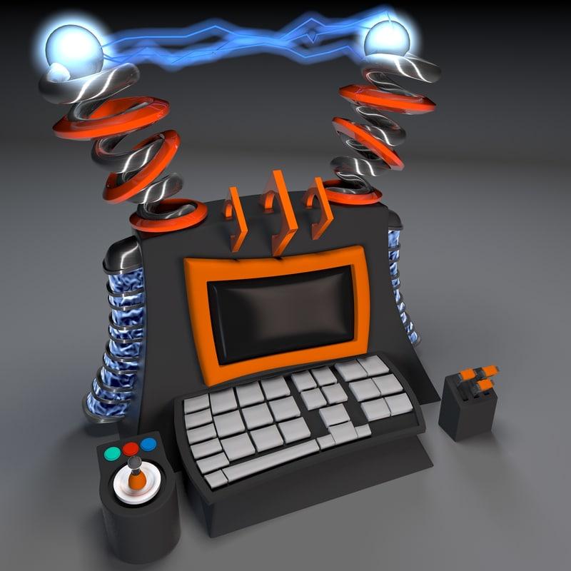 Cartoon Super Computer