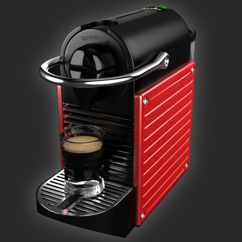 3d coffeemaker nespresso pixie krups. Black Bedroom Furniture Sets. Home Design Ideas
