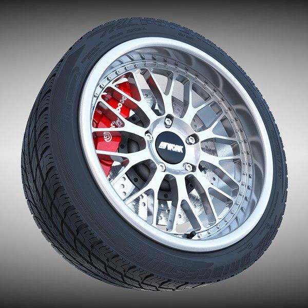 Porsche Wheel 3D Models