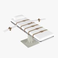lethal injection bed 3D models
