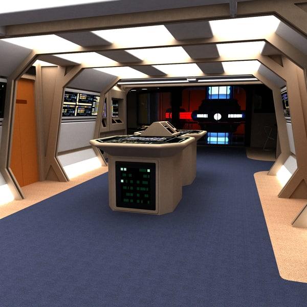 Enterprise D Engineering 3D Models