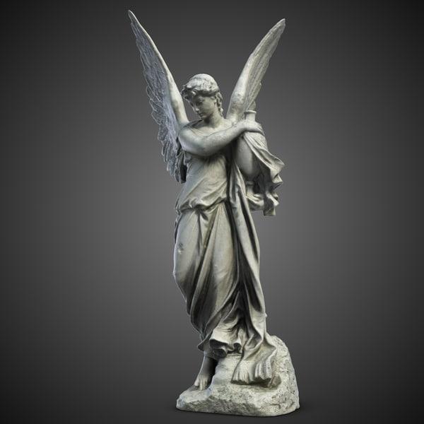 Angel Sculpture 3 3D Models