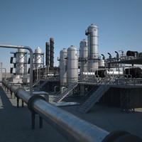 petroleum refinery 3D models