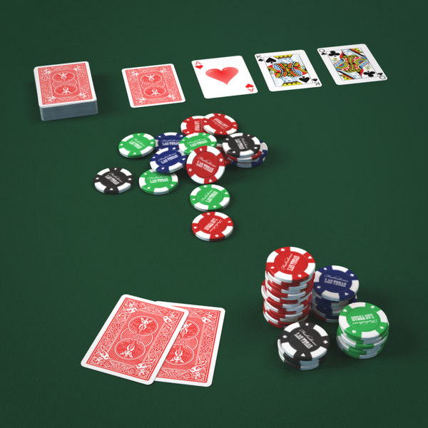 Play Cards and Fiches 3D Models