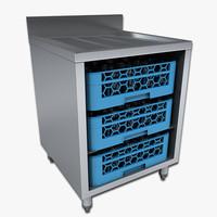 bar storage rack 3D models