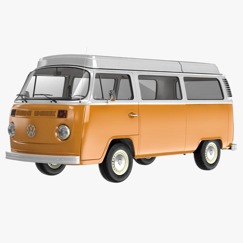 Turbo Microbus: Volkswagen T2 3d Max