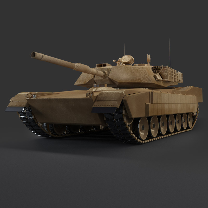 tank abrams low  3d max