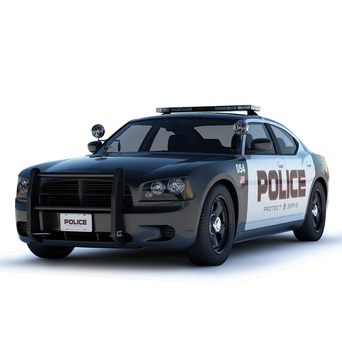 maya dodge charger police car. Black Bedroom Furniture Sets. Home Design Ideas