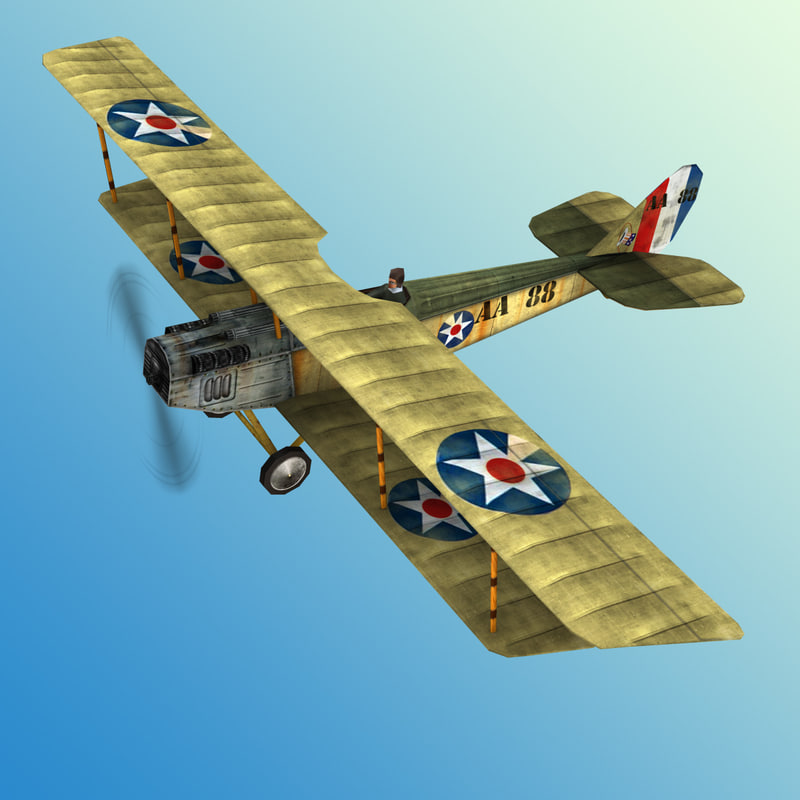 Curtiss JN 4 Low Poly