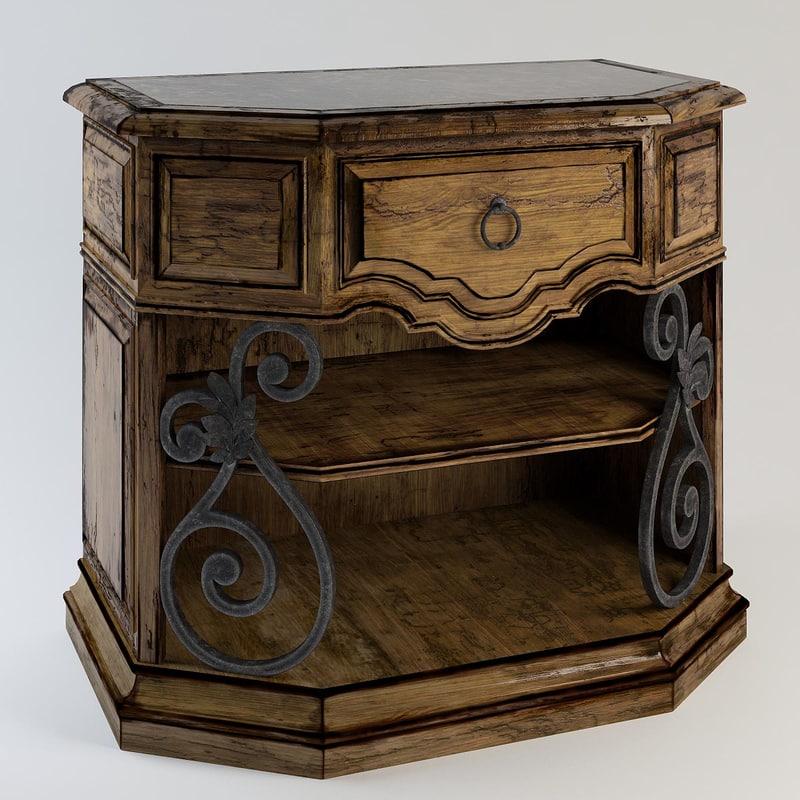 segovia bedside chest marge 3d max