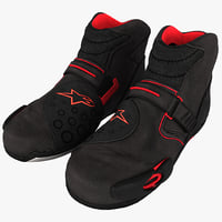motorcycle racing boots 3D models