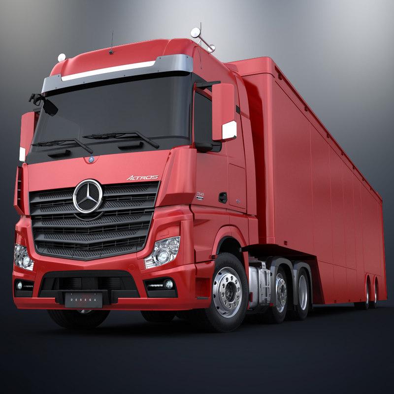 Mercedes Benz Actros 6X4 Trailer 2 Axles