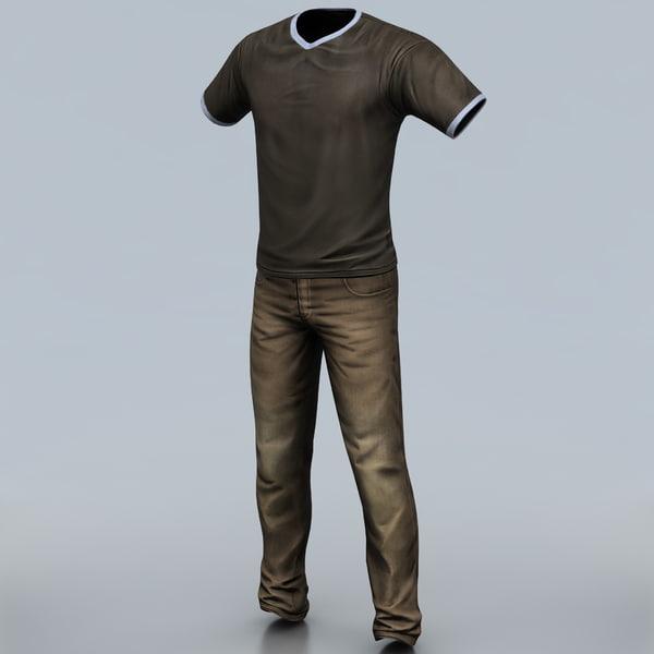 Man Clothes 2 Texture Maps