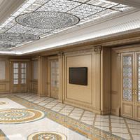 empty room 3D models
