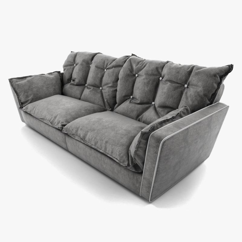 sorrento sofa baxter 3d model. Black Bedroom Furniture Sets. Home Design Ideas