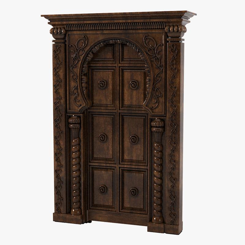 a Oriental Door Portal marraKech carved decorated eastern0001.jpg